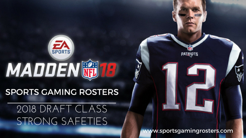 Madden NFL 18 – 2018 Draft Class – Strong Safeties
