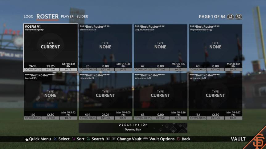 MLB The Show 18: OSFM 2018 Opening Day Rosters