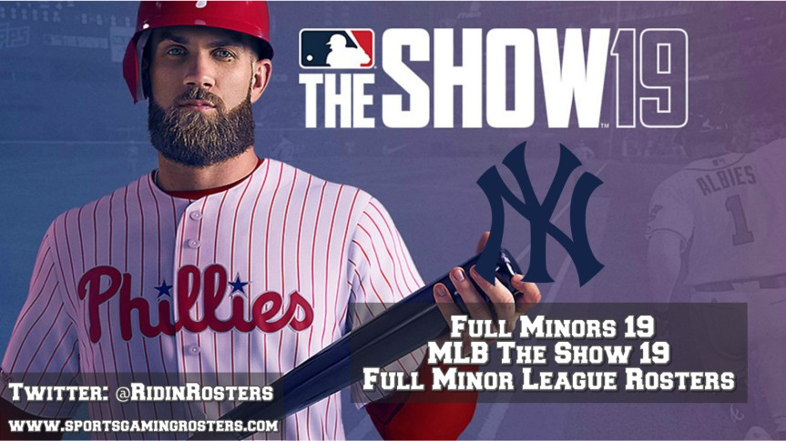 MLB 19 The Show – Full Rosters 19 – New YorkYankees