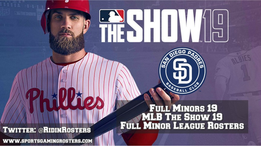 MLB 19 The Show – Full Minors 19 – San Diego Padres