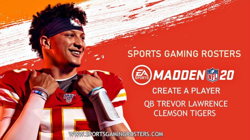 Madden NFL 20 CAP: QB Trevor Lawrence,Clemson