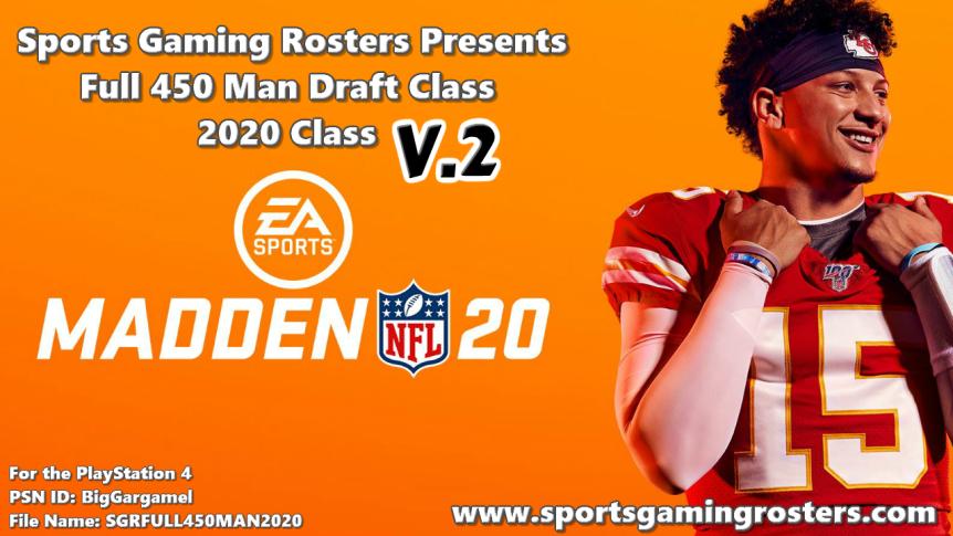 Madden NFL 20: 2020 Full 450 Man Draft Class v 2.0 OutNow!