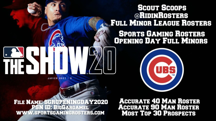 Sports Gaming Rosters MLB The Show 20 Opening Day Rosters – Chicago Cubs