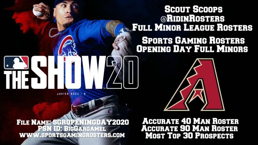 Sports Gaming Rosters MLB The Show 20 Opening Day Rosters – ArizonaDiamondbacks