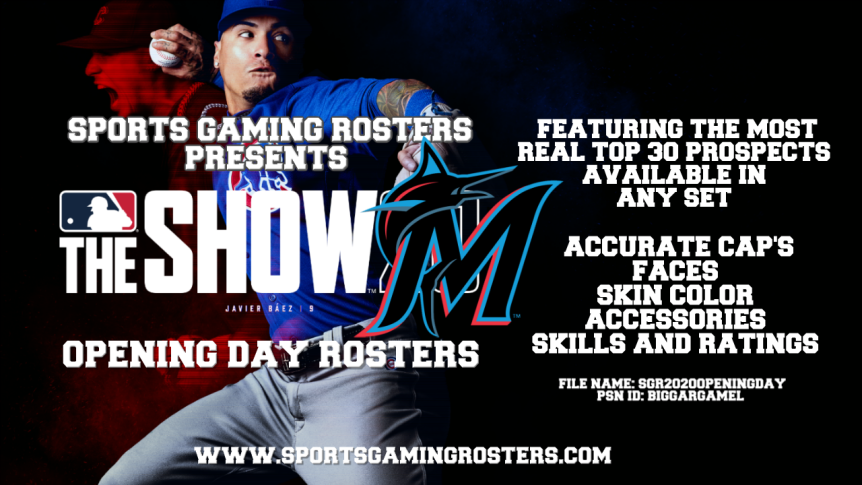 Sports Gaming Rosters MLB The Show 20 Opening Day Rosters – MiamiMarlins